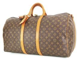 Auth LOUIS VUITTON Keepall Bandouliere 55 Monogram Canvas Duffel Bag #35185 - $459.00