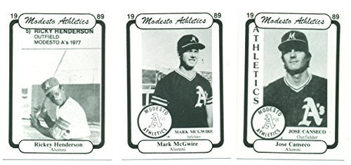 1989 Modesto Athletics Team Set with Mark McGwire, Jose Canseco, and Rickey Hend