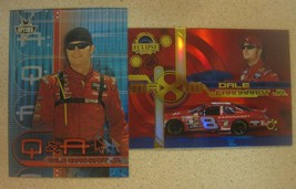 (2) Dale Earnhardt Jr. Card Lot Press Pass 2005 Eclipse MAXIM/2002 Optima Q&A - $4.46