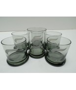 Snap-On Lowball Glasses Lot 6 Tools Globe Etched Hiball Rock Smoke Drink... - $29.99