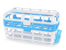 Munchkin High Capacity Dishwasher Basket, Load Nipples Easily, Blue White - $18.95