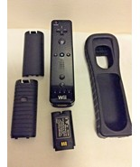 Official OEM Original Nintendo Wii /WiiU Remote Wiimote Controller BLACK... - $29.95
