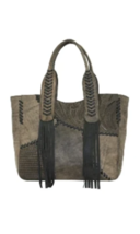 American West- Gypsy Patch Large Zip-Top Tote (Distressed Charcoal) - $258.00