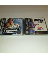 PlayStation Madden 98 & 2000 Video Game Bundle NFL Football EA Sports - $9.90