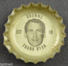 Vintage Coca Cola NFL Bottle Cap Cleveland Browns Frank Ryan Coke King S... - $6.99