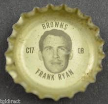 Vintage Coca Cola NFL Bottle Cap Cleveland Browns Frank Ryan Coke King Size Soda - $6.99