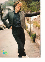 John Taylor teen magazine pinup clipping Duran Duran leaning outside Roc... - $3.50
