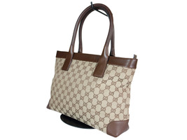 Authentic GUCCI GG Pattern Canvas Leather Browns Shoulder Bag GH2078 - $249.00