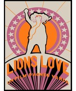 Decor Poster.Home interior design.Room wall print.Lion's Love hippie mov... - $10.89+