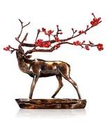 sankontran Handmade Creative Abstract Metal Cast Brass Animal Sika Buck ... - $397.91