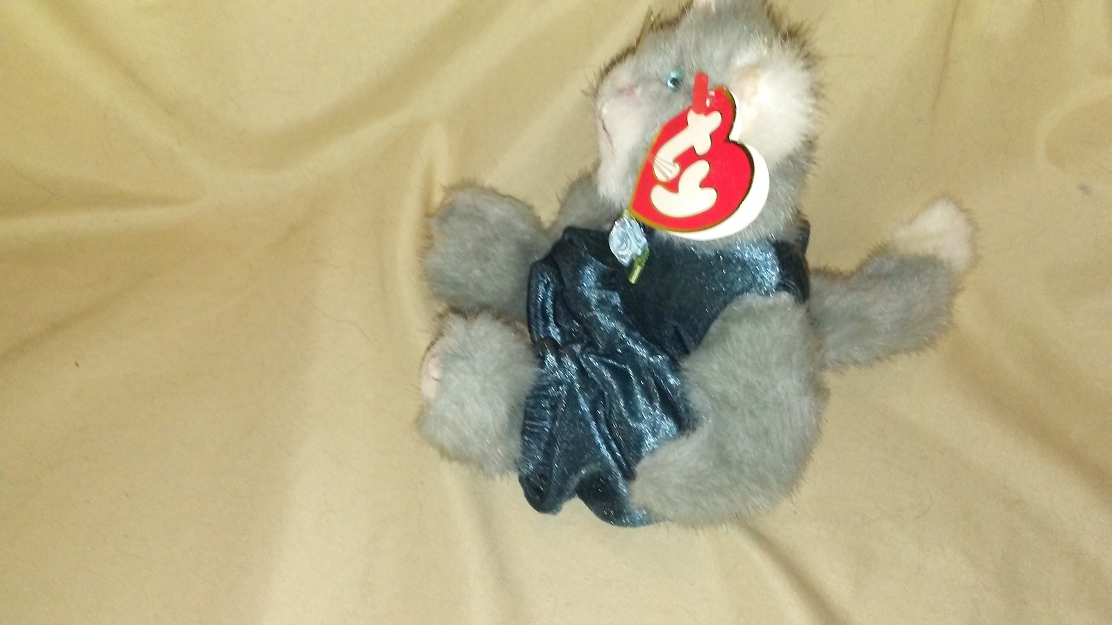 55195b7b9d2 Ty Beanie Baby Whiskers Gray Cat Plush and 50 similar items