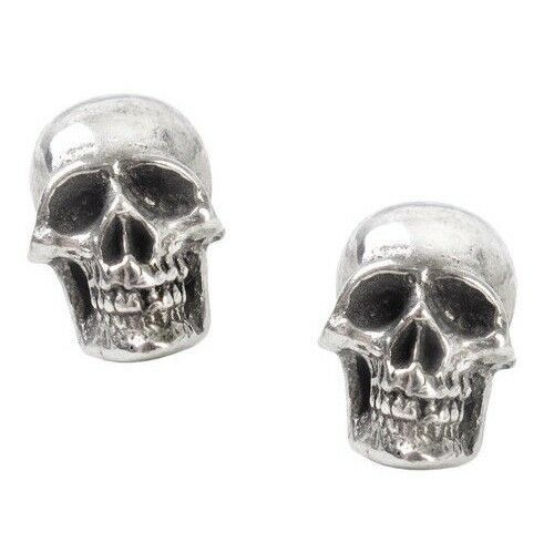 Primary image for Mortaurium Detailed Skulls Surg Steel Post Studs Earrings E342 Alchemy Gothic
