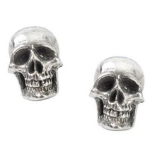 Mortaurium Detailed Skulls Surg Steel Post Studs Earrings E342 Alchemy G... - $14.95