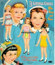 VINTAGE UNCUT 1959 THREE LITTLE GIRLS WHO GREW AND GREW PAPER DOLLS~#1 T... - $19.99