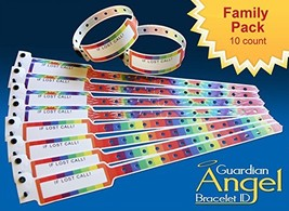 Guardian Angel Wristband ID Bracelets for Kids 10-pack - $8.65