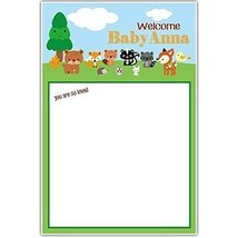 Woodland Creatures Forest Baby Shower Guestbook Poster - $18.32