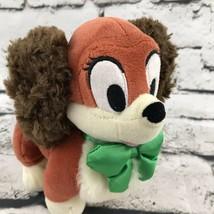 Disney Store FIFI Minnie Mouse Puppy Cocker Spaniel Dog Plush Green Bow - $9.89