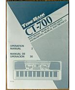 Casio CT-700 Electronic Keyboard Original Operating Owner's Manual Book LN - $21.77