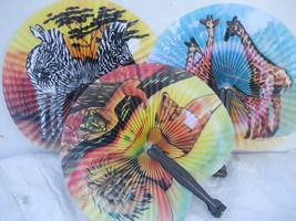 Wild Animals 3 PC Oriental Folding Traveling Hand FAN Set  ,Fan183 - $6.50