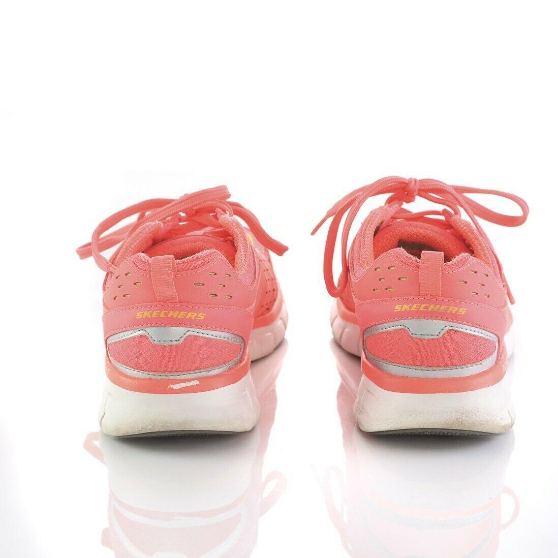Skechers Sport Neon Pink Athletic Tennis Shoes Sneakers Memory Foam Womens 8