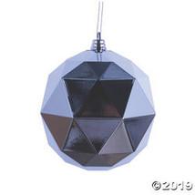"Vickerman 6"" Silver Geometric Ball Ornament - 4/Bag - $27.75"