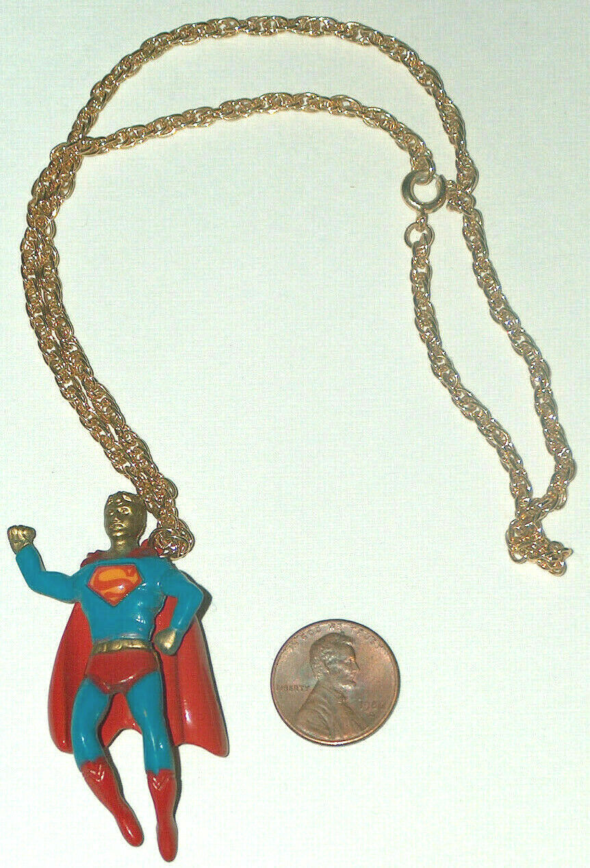 "Primary image for Vintage RARE 1978 DC Comics Superman Man Of Steel 18"" Metal Chain & Necklace VG"