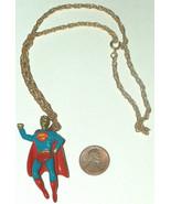 "Vintage RARE 1978 DC Comics Superman Man Of Steel 18"" Metal Chain & Neck... - $12.85"