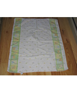 CARTERS JUST ONE YEAR FLANNEL RECEIVING BABY BLANKET BUNNY TEDDY BEAR PACIFIER - $31.67