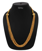 Womens Trendz Golden Ball Chain 24K Gold Plated Alloy Necklace - $39.00