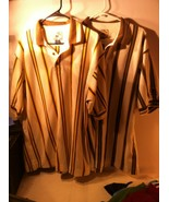 2)  CUTTER & BUCK MENS GOLF POLO -SIZE XL--CAESARS PALACE-STRIPED-FREE S... - $24.25