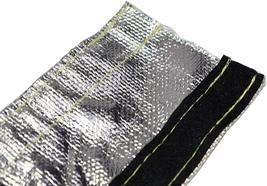 """Heat Shroud Aluminized Sleeving with Hook and Loop Closure 1/2""""x36 (3ft) image 8"""