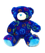 "Build a Bear Workshop Peace Sign Plush 14"" Dark Blue Boho Hippie Toy 201... - $12.20"