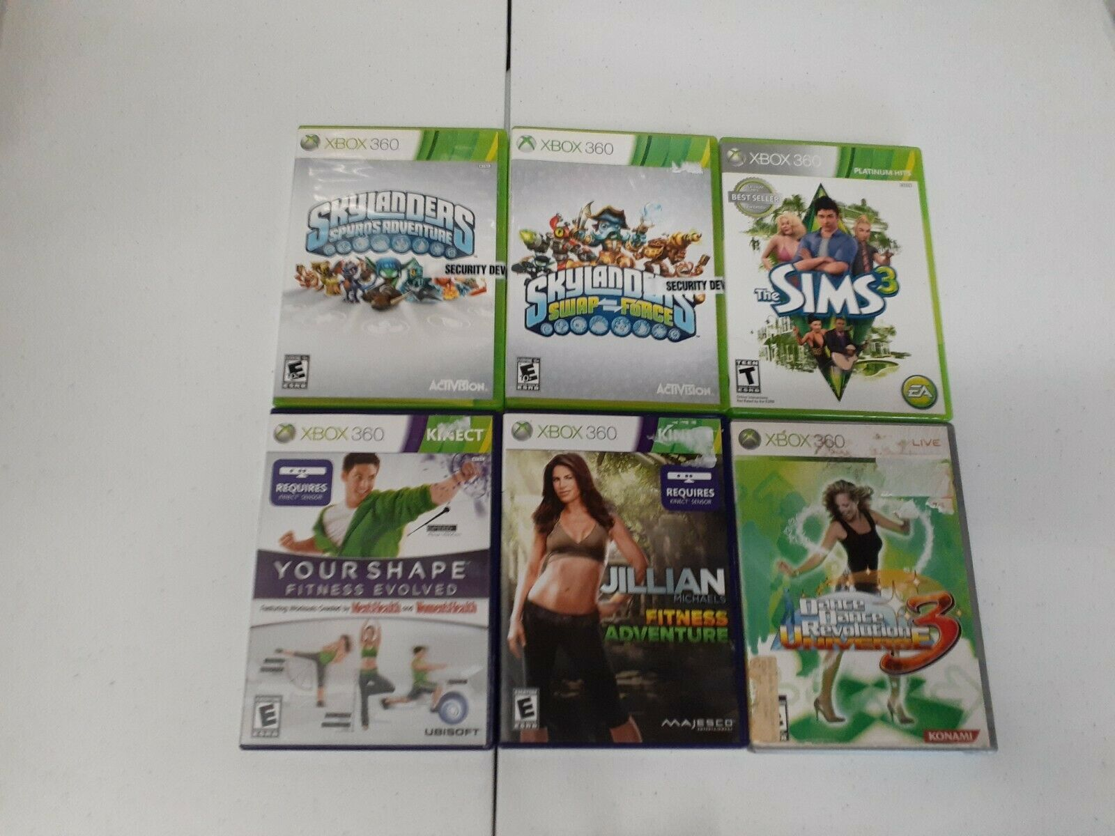 Primary image for LOT 6 XBOX 360 Skylanders Sims Dance 3 Your shape Jillian