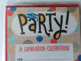 Graduation Party Celebration Invitations & Envelopes 10ct Single Panel No Text - $5.93