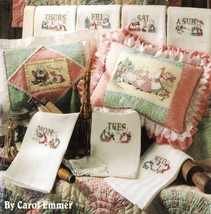 26 Sunbonnet Sue Cross Stitch Monthly Daily Design Wall Hanging Pillow P... - $13.99