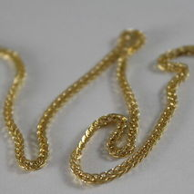 SOLID 18K YELLOW GOLD CHAIN NECKLACE WITH EAR LINK, 17.72 IN. MADE IN ITALY image 3