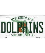 Dolphins Florida State Background Metal License Plate Tag (Dolphins) - $11.95