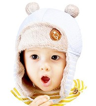 Cute Baby Warm Hat Cap Baby Ear Protection Hat Light Blue, 2-4 Years image 2