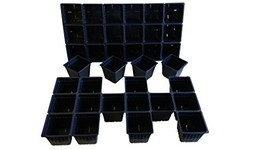 25 Plastic Seed Starting Trays - Each Tray Has 18 Cells ~ Cells Are 3 In... - $53.48