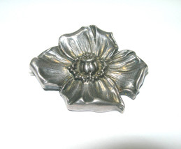 ANTIQUE VICTORIAN WILLIAM WM KERR STERLING SILVER FLOWER WATCH PIN PENDANT - $200.00