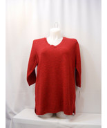 Karen Scott Women's Sweater Solid Red Plus Size 2X  - $27.97