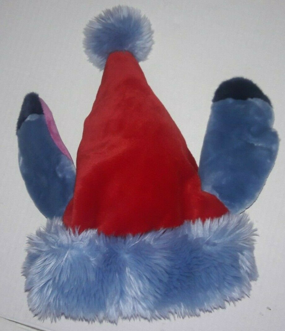 Stitch Christmas Santa Hat Blue Pink Ears Authentic Disney World Lilo and