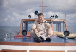 Lot Of 6 1950s Kodachrome Red Border Young Boy Modeling On Boat Acting F... - $9.62