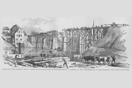 Rebuilding the Railroad Bridge across the Rappahannock by Frank Leslie - Art Pri - $19.99+