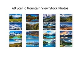 Scenic Mountain Stock Photos 60 High Quality Images 300 DPI Print or Web - $60.00