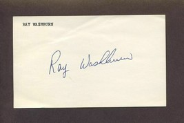 RAY WASHBURN Signed 3x5 Index Card 1967 Cardinals Autograph - $5.83
