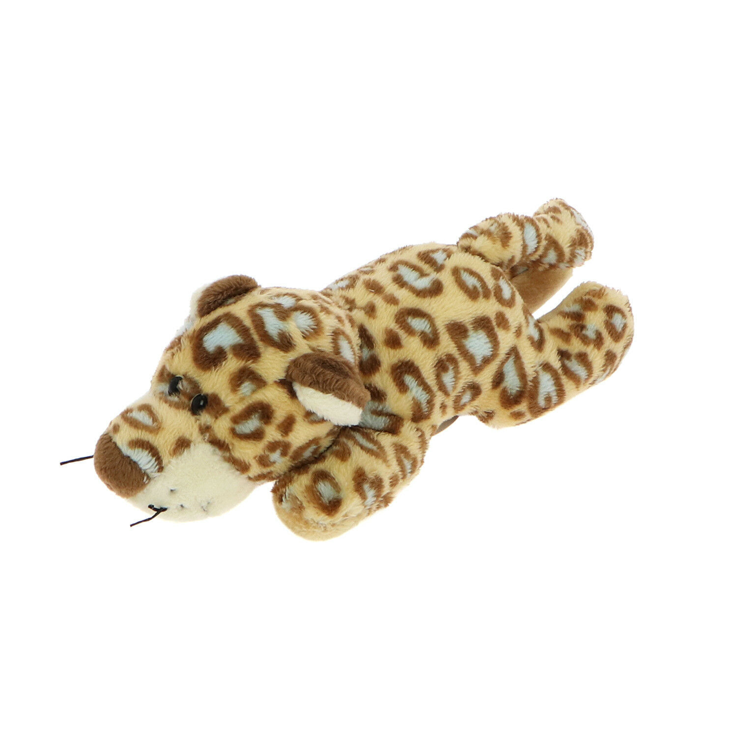 Primary image for MagNICI Leopard Brown Blue Spots Plush Toy Animal Magnet in Paws 5 inches 12 cm