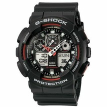Casio G-Shock Analog-Digital Black Dial Men's Watch - GA-100-1A4DR (G272) - $160.40