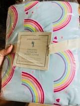 Pottery Barn Kids Over The Rainbow Duvet Cover Light Blue Queen No Shams... - $110.00