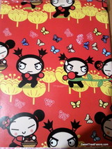 Pucca Garu Wrapping Paper Sheet Gift Book Cover Party Decoration x2 Asia... - $12.82